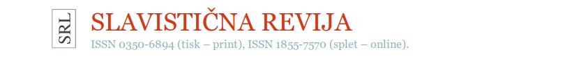 logo slavistične revije